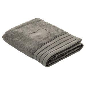 Heart anthracite bath towel
