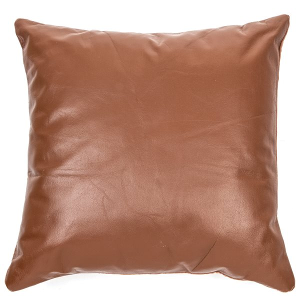 Coussin faux cuir Bobby
