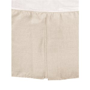 Linen natural bedskirt