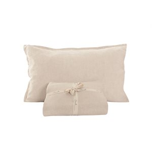 Linen natural pillow sham