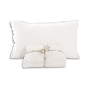 Linen white pillow sham