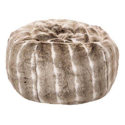 Grizzly faux fur pouffe