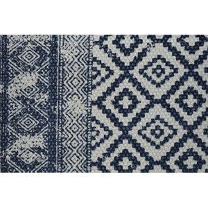 Carpette bleue inspiration Indienne Slavia