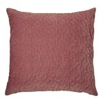 Velours raspberry cushion