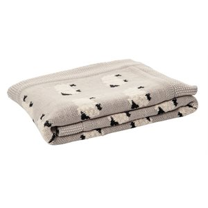 Mouton grey knitted baby blanket