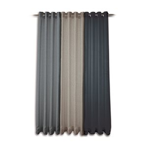 Modern tweed anthracite curtain panel