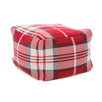Scotland plaid pouffe