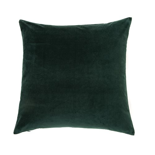 Oreiller européen velours vert foncé Velvet