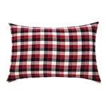 Cache oreiller à carreaux rouge Billy