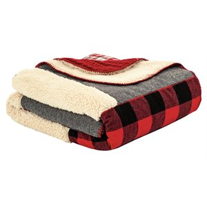 Buck cottage style throw