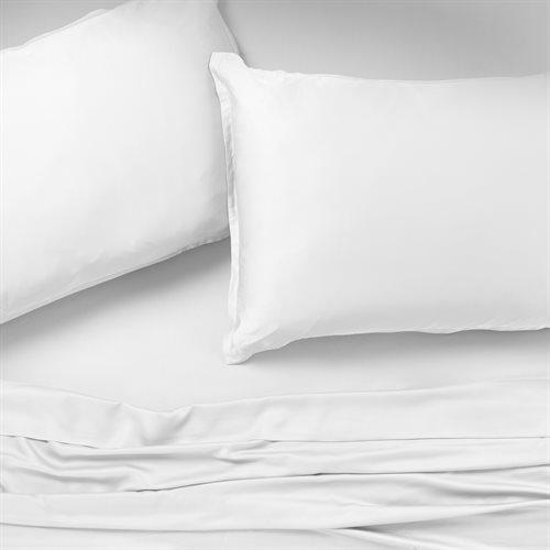 Bambou white sheet set