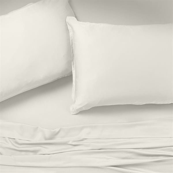 Bambou ivory sheet set