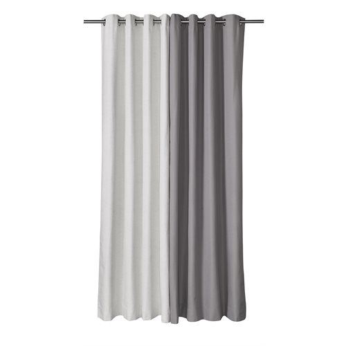 Bryan grey curtain with grommets