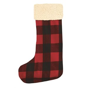 Buck plaid Christmas stocking