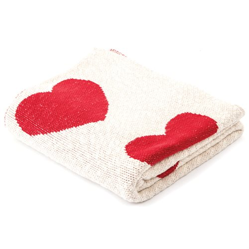 Elsa throw with hearts