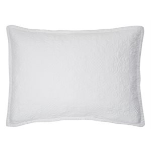Eva white pillow sham