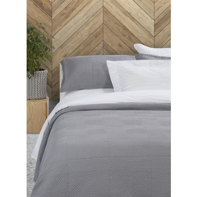 Francisco grey quilted duvet cover