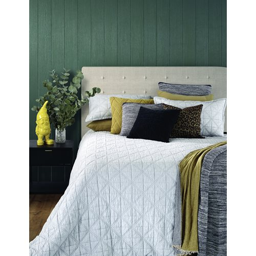 Grigio quilted twin duvet cover