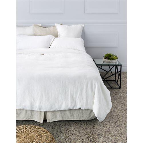 Linen white duvet cover