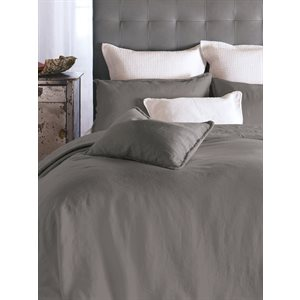 Linen dark grey duvet cover