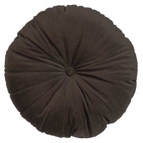 Coussin rond chocolat Mandarin