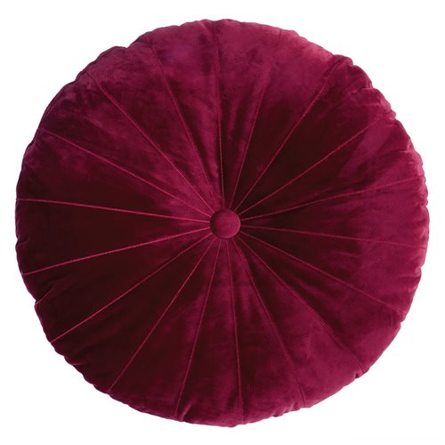 Coussin rond rouge Mandarin