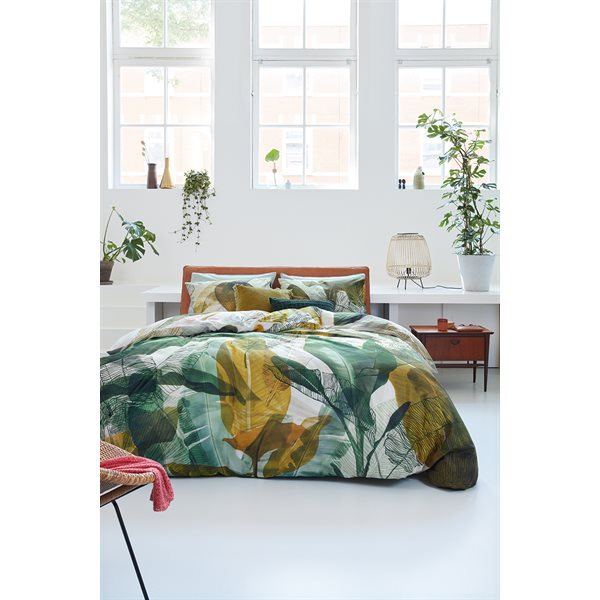 Musa Green exotic duvet cover