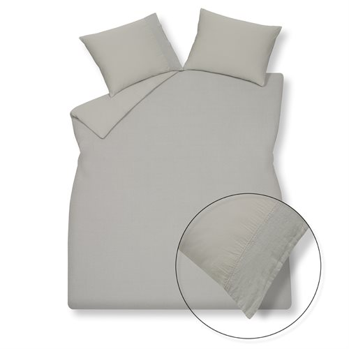 Pure grey duvet cover
