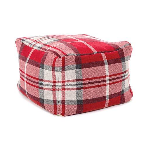 Scotland plaid pouffe