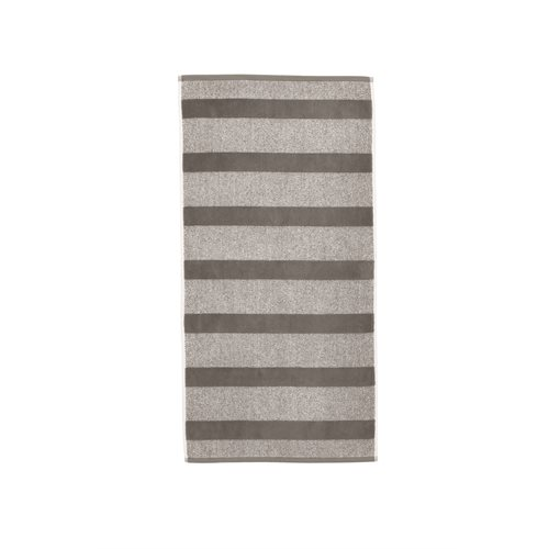 Spa striped anthracite hand towel