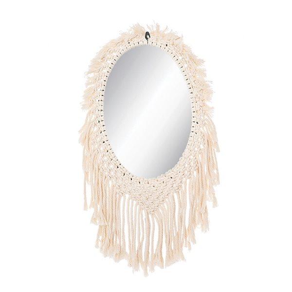 Miroir macramé Zouk