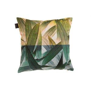 Coussin feuillage vert Amazon