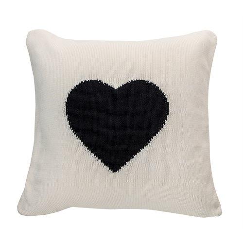 Amoroso black heart cushion
