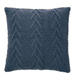 Atelier blue knitted cushion