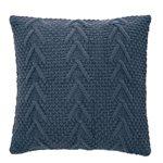 Coussin en tricot bleu Atelier
