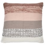 Coussin en tricot rayé Baba