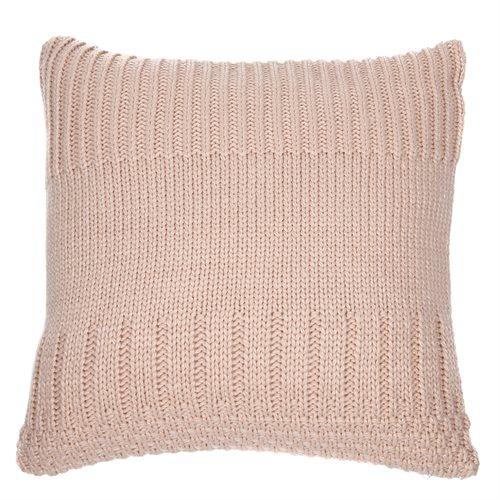 Oreiller européen en tricot rose pâle Baba