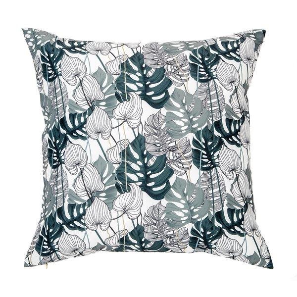 Bayou monstera leaves cushion