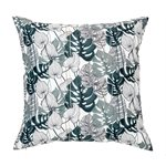 Bayou monstera leaves cushion