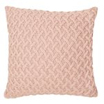 Coussin en tricot rose Beatrice