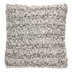 Bertrand knitted grey cushion