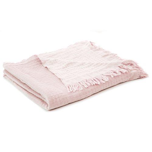 Bloom soft pink throw