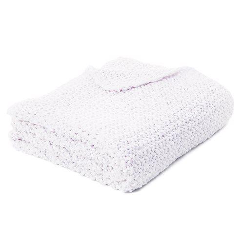 Jeté en tricot blanc Bulky