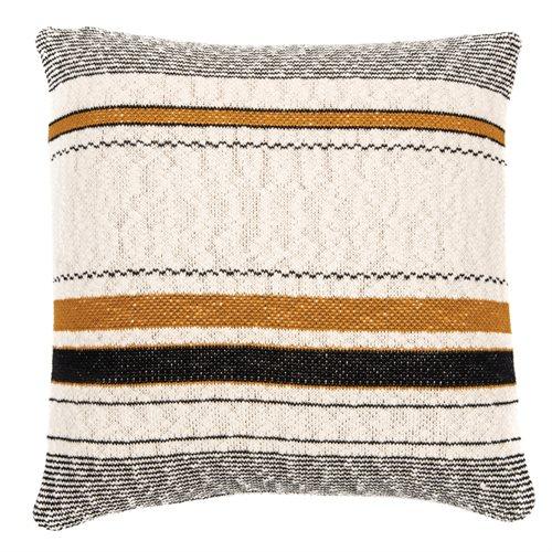Calico natural and black cushion