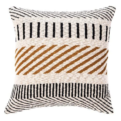 Caramel natural and black cushion