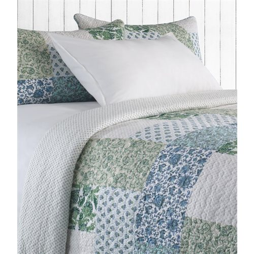 Cecile green and blue quilt