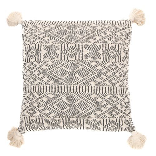 Charlotte knitted cream cushion