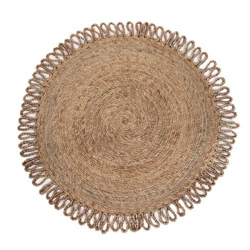 Chia round jute area rug