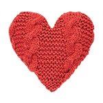 Coussin cœur rouge Cinnamon