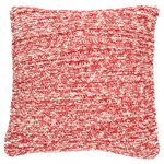 Coussin en tricot rouge Claudette
